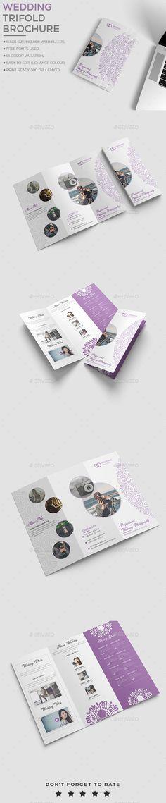 Wedding Trifold Brochure Template PSD