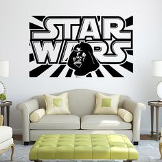 Star Wars Wall Decal with Darth Vader - Vinyl Sticker Boys Bedroom Wall Decor Lego Star Wars Poster Wall Stickers Home Decor
