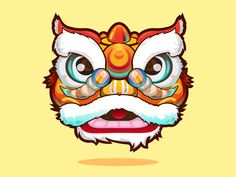 Lion Dance by XiaoLong for Eyeshot Vision Studio on Dribbble Chinese New Year Decorations, Chinese New Year Crafts, Happy Chinese New Year, Chinese Lion Dance, Chinese Dragon, Chinese Design, Chinese Art, Dragons, Dancing Drawings