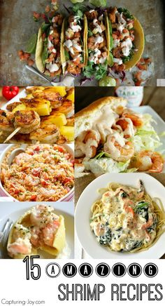 15 Amazing Shrimp Recipes! From pasta to tacos to sandwiches!