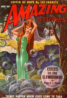Apparently she's an elf. But she looks like a damn mermaid to me. Amazing Stories, Vol. 23, No. 7, 1949
