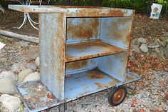 industrial cart-great for  a bar - SOLD