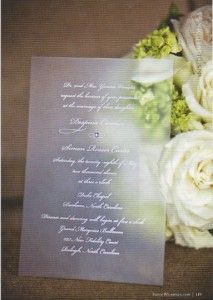 #transparent wedding invitation - simple, classy and unique #lafete