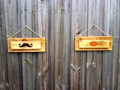 Reclaimed Pallet Wood Rustic Mustache and Lips by jaredheartsangie, $20.00