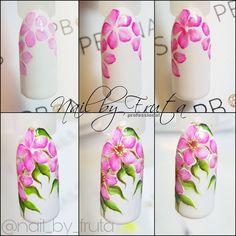 Butterfly Nail Art, Flower Nail Art, Nail Art Hacks, Spring Nail Art, Spring Nails, Full Set Acrylic Nails, Water Color Nails, Magic Nails, Nail Patterns