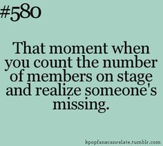 there's always a felling that someone's missing when you start counting. kpop meme