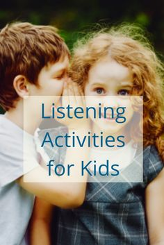 """Do you hear that sound?"" The children immediately calmed their bodies and nodded their heads in excitement. Listening activities are by far the most popular activities in a child's learning environment whether indoors or outdoors. Listening Activities For Kids, Listening Games, Seasons Activities, Calming Activities, Library Activities, Active Listening, Autism Activities, Listening Skills, Montessori Activities"