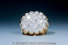 Van Cleef & Arpels - An unusual diamond cocktail ring,