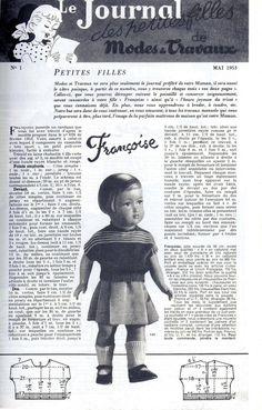 PAR AMOUR DES POUPEES :: M&T 1953-05 Petit pull pour Françoise (tricot)