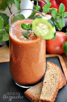 Delicious Skinny Gazpacho Recipe... So darn good and guilt free! @Matty Chuah 36th Avenue .com.com