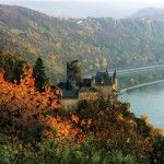 "Embracing the enchantment of Germany's Frankfurt Rhine-Main region: St. Goarshausen: Katz Castle during autumn, featured in ""Between Two Rivers"": http://hilxry.com/1cVSJnN (Oct/Nov 2013)"