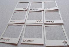 Polaroid Die Cuts per scrapbooking & Smash book - set di 9 pezzi in cartoncino kraft on Etsy, 2,39€