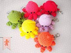 Crocheted by AmigurumisFanClub!!! ...Free pattern by Esshaych http://esshaych.blogspot.com.es/2010/09/mini-ami-octopus-take-2.html