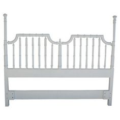 Check out this item at One Kings Lane! White Faux-Bamboo Headboard, Queen