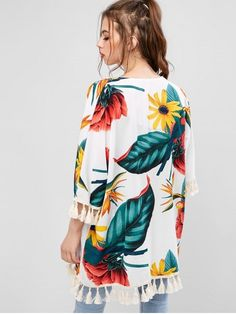 Latest fashion women's beach tops - beach blouses and strapless beach tops at ZAFUL. Browse our wide selection of trendy summer tops for beach at great prices. Bikini Beach, Bikini Tops, Chiffon, Swimwear Cover Ups, Beach Tops, Summer Tops, Latest Fashion For Women, Daily Fashion, Floral Tops