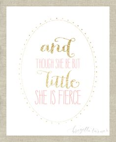 Wall Art Print  Girls  Room  Nursery  And thou by brigetteturner, $14.50