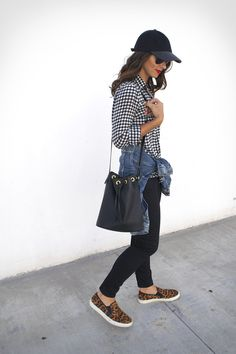 | black and white and leopard |