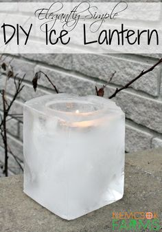 Elegant DIY Ice Lanterns Simple and Elegant Ice Lanterns made from recyclables, perfect for lighting up your garden paths and walkways Outdoor Candles, Diy Candles, Outdoor Decor, Making Candles, Outdoor Lighting, Outdoor Christmas Decorations, Christmas Crafts, Christmas Ideas, Holiday Decor