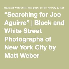 """""""Searching for Joe Aguirre"""" 