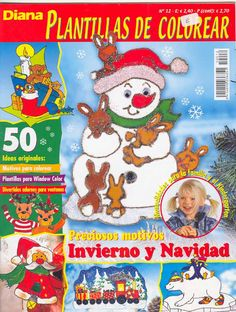 Karacsonyi uvegfestes - Plantillas de Colorear - Barbara H. - Picasa Web Albums Christmas Window Decorations, Book Crafts, Craft Books, Book Quilt, Painting Techniques, Gingerbread Cookies, Crafts To Make, Hobbit, Snoopy