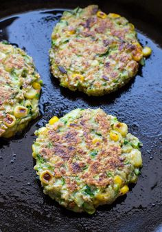 Zucchini Corn Fritters with Black Bean Salsa are a healthy and easy vegetarian option for dinner. They're dairy-free and can easily be made gluten-free as well!