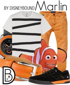 Disney Bound: Marlin from Disney's Finding Nemo Disneyland Outfits, Disney Bound Outfits, Cruise Outfits, Kid Outfits, Themed Outfits, Disney Cosplay, Disney Costumes, Disney Fun, Disney Style
