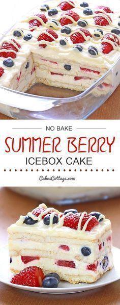 No Bake Summer Berry Icebox Cake - Best Food Ideas