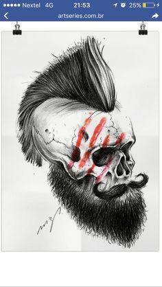 Skull punk Beard