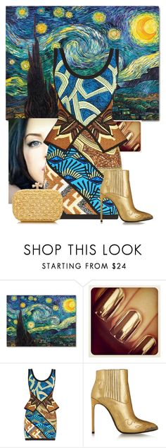 """""""Starry Night"""" by eb-case ❤ liked on Polyvore featuring Hervé Léger, Yves Saint Laurent and Bottega Veneta"""