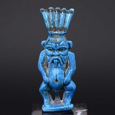 * A large Egyptian Faience Amulet of Bes, 21st Dynasty, ca. 1069 - 945 BC