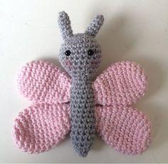Örgü Oyuncak Kelebek Yapımı 6