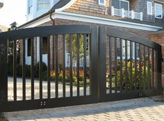 Handsome Driveway Iron Gate Entrance and iron driveway gate cost