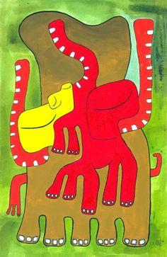 """Enlace de espíritus"" Ronald Mcdonald, Fictional Characters, Elephants"
