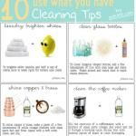 10 Remarkable DIY Cleaning Solutions |  I'm really excited about the formula for wrinkle release spray.  Yay!