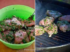 Retete de marinade pentru gratar Sprouts, Asparagus, Potato Salad, Potatoes, Beef, Chicken, Vegetables, Cooking, Ethnic Recipes