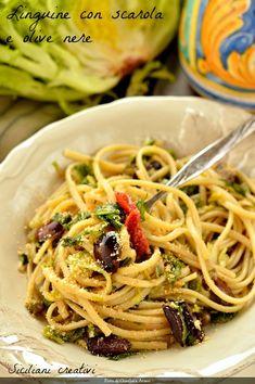 My Recipes, Pasta Recipes, Vegan Recipes, Cooking Recipes, Olives, Spaghetti, Pasta Dishes, Food Inspiration, Main Dishes