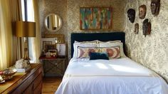 Before & After: Minetta's Glamorous & Authentic Bedroom — The Big Reveal Room Makeover Contest 2015