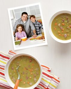 A pair of ham hocks gives this soup plenty of meaty richness.