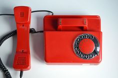 Fully Working Rotary Phone Red Rotary Phone by oldschoolvibes