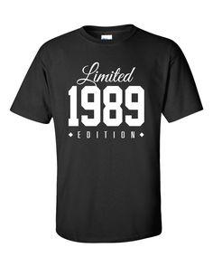 1989 Limited Edition 27th Birthday Party Shirt Turning 27 T-Shirt Tee Shirt T Shirt Mens Ladies Womens Funny Modern Tee TH-002 by TeeHeeHeeShirt on Etsy https://www.etsy.com/listing/203833416/1989-limited-edition-27th-birthday-party