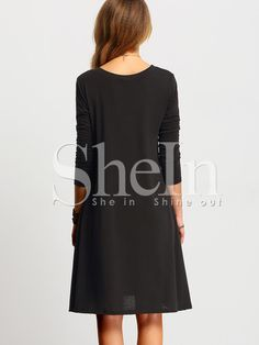 Shop Black V Neck Tshrit Dress In Jersey online. SheIn offers Black V Neck Tshrit Dress In Jersey & more to fit your fashionable needs.
