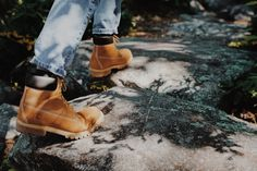 When you think of Timberland boots, you're thinking of these classic waterproof boots. Yellow Boots, Timberlands, Waterproof Boots, Timberland Boots, Men's Fashion, Fall, Photography, Shoes, Collection