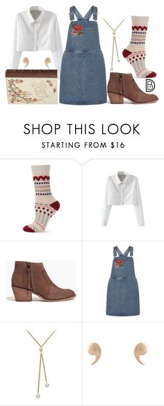 """Belle"" by leslieakay ❤ liked on Polyvore featuring Free People, WithChic, Madewell, Dorothy Perkins, Latelita, Danielle Nicole, disney, disneybound, BeautyandtheBeast and disneycharacter"