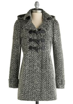 Salt and Pepper Panache Coat