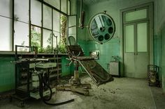 "Photographer Thomas Windisch (Caters News), a 32 years old Austrian, went to several abandoned asylums (or ""manicomios"", in Italian) through Italy. Closed since 1978 for most, these places show forgotten secrets, residents and events, in a very gloomy atmosphere ..."