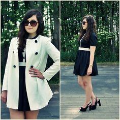 BLACK AND WHITE A LA MAID OF THE RITZ (by Sandra G.) http://lookbook.nu/look/3604523-BLACK-AND-WHITE-A-LA-MAID-OF-THE-RITZ