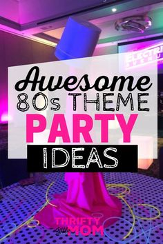 theme party decorations Love these fun theme party ideas! Go back to the future and bring your cassette tapes with these DIY decoration tips and food for adults or kids. Adult Party Themes, Party Food Themes, Party Ideas, Diy 80s Party Decorations, Diy Decoration, 80s Birthday Parties, Birthday Party Themes, 40th Birthday, Decade Party