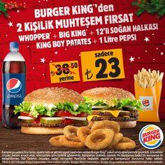 Burger King®'den İki Kişilik Muhteşem Fırsat! Ara Gelsin 444 54 64