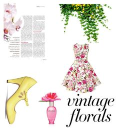 """Vintage Florals"" by nfierros on Polyvore featuring Marc Jacobs, J. Adams and vintage"