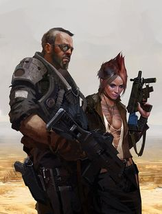Concept Picture  (2d, post apocalyptic, characters)
